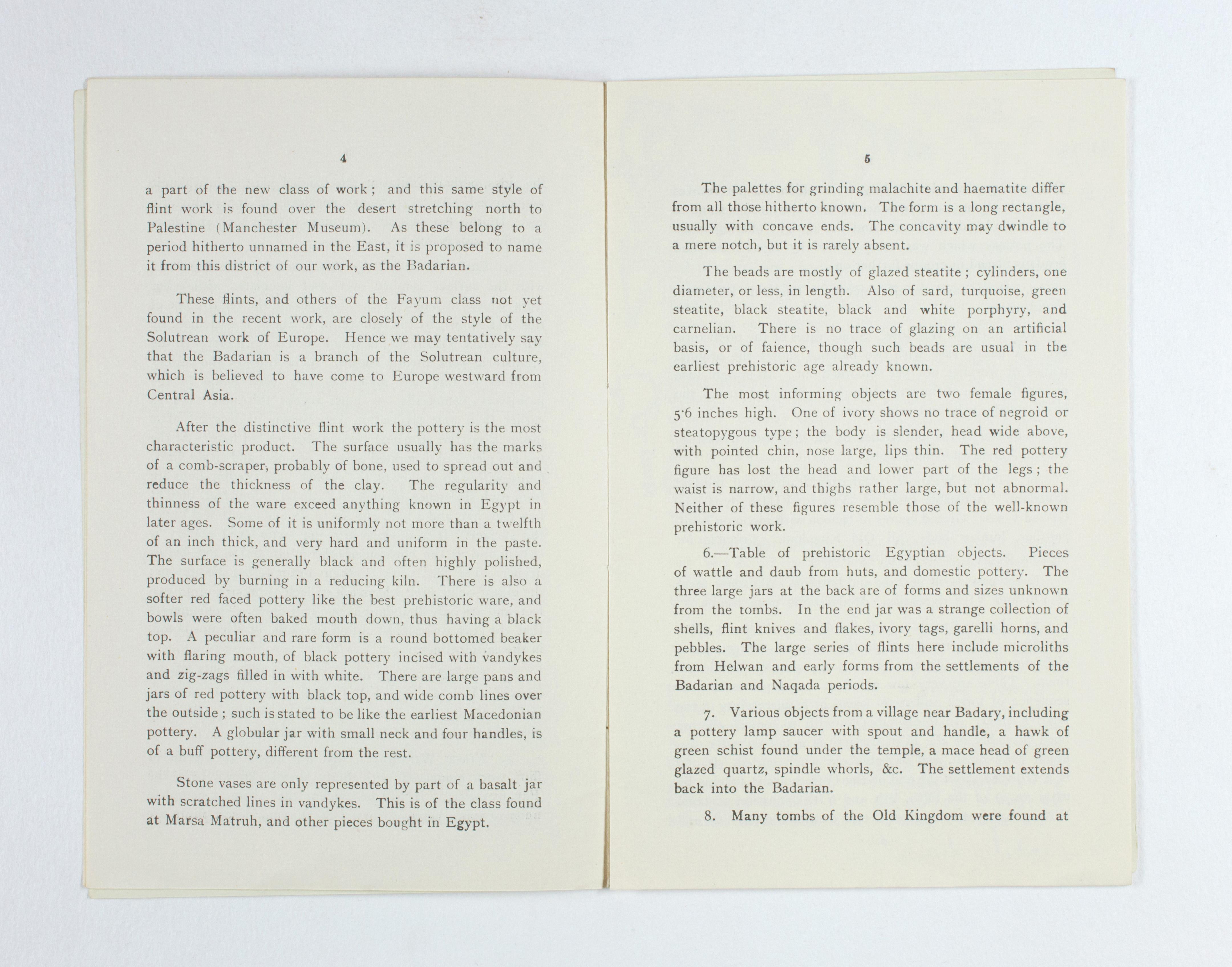 1923-24 Qau el-Kebir, Hemamieh Exhibition catalogue PMA/WFP1/D/27/29.4