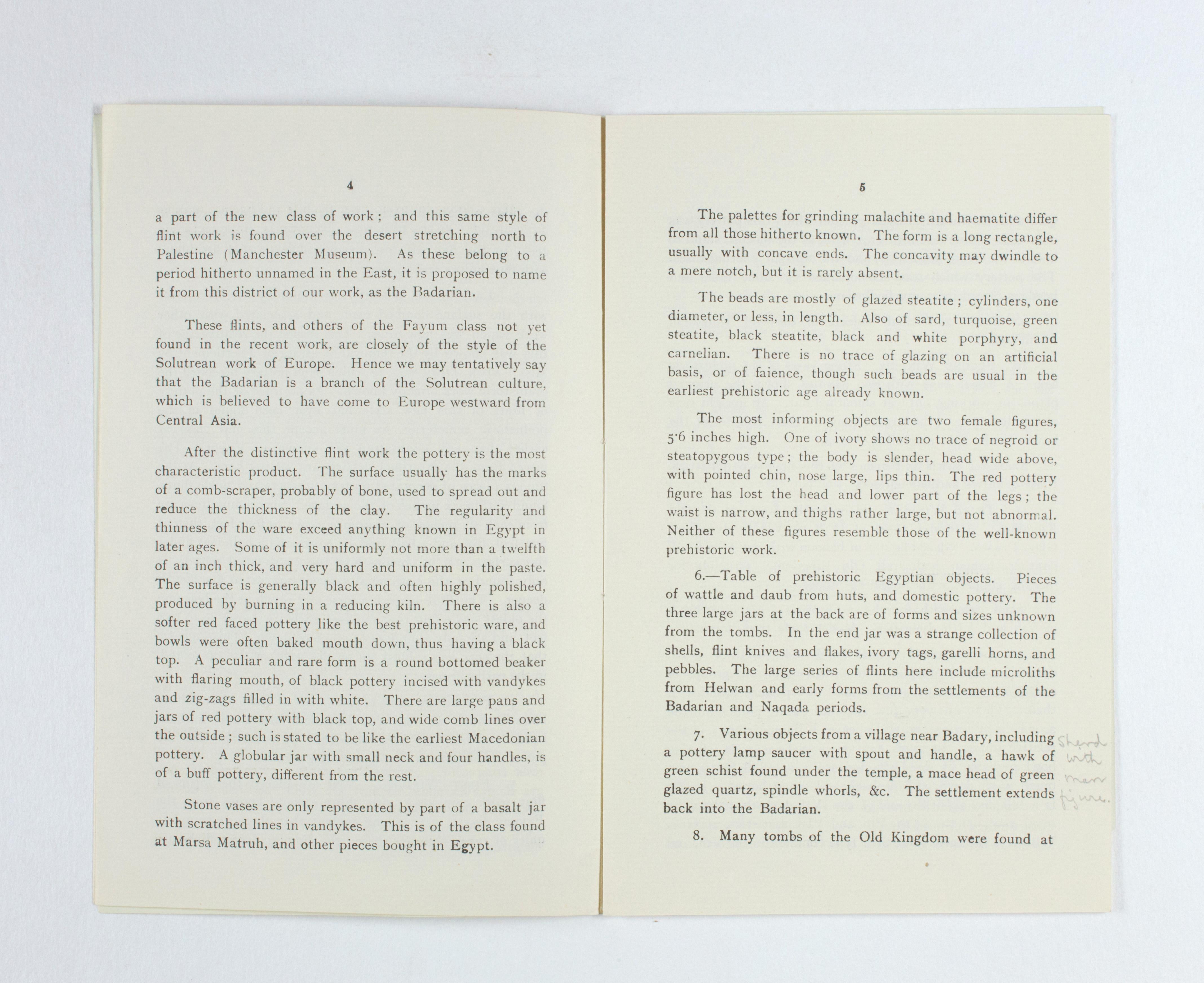 1923-24 Qau el-Kebir, Hemamieh Exhibition catalogue PMA/WFP1/D/27/30.4