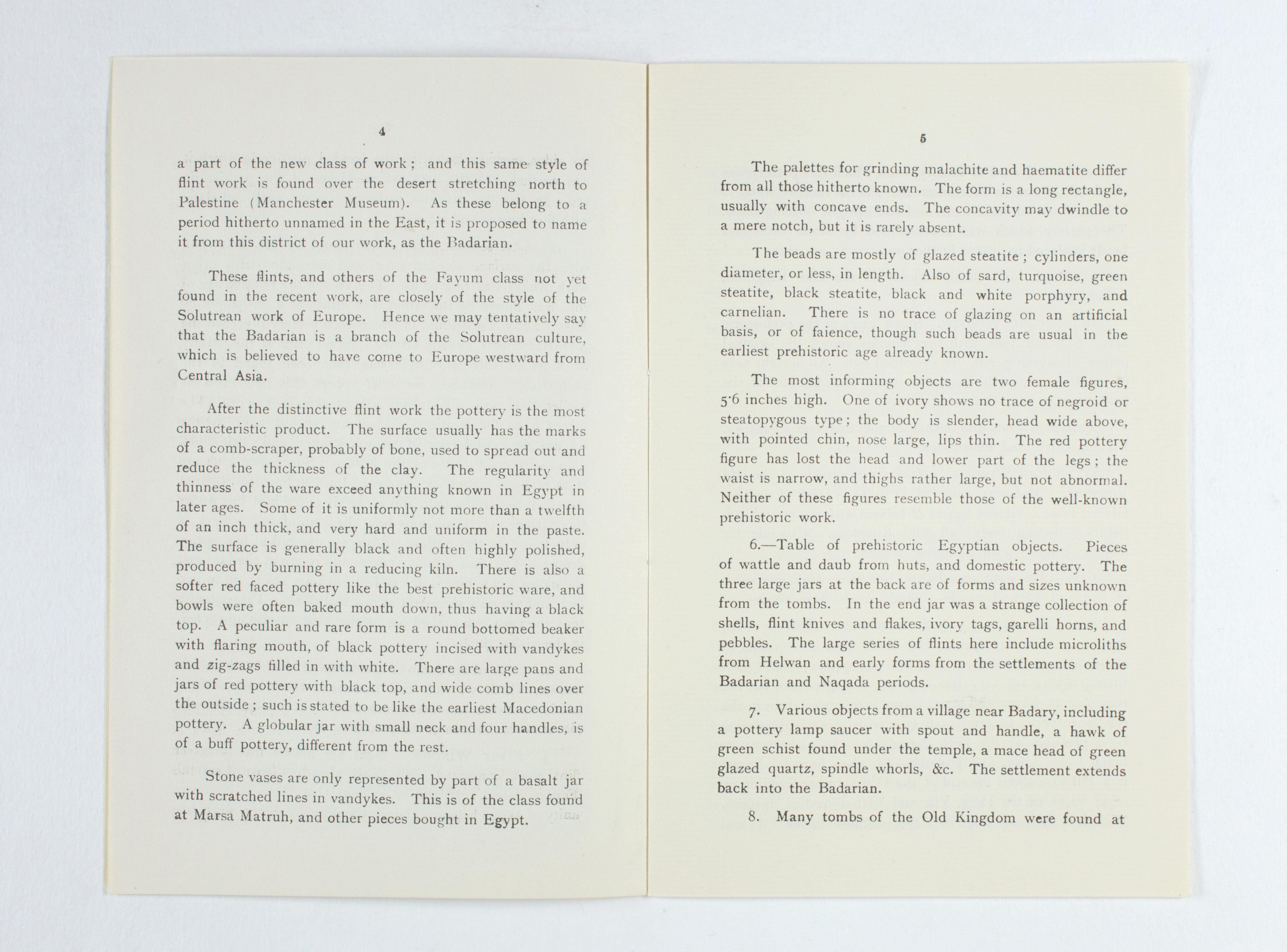 1923-24 Qau el-Kebir, Hemamieh Exhibition catalogue PMA/WFP1/D/27/31.5