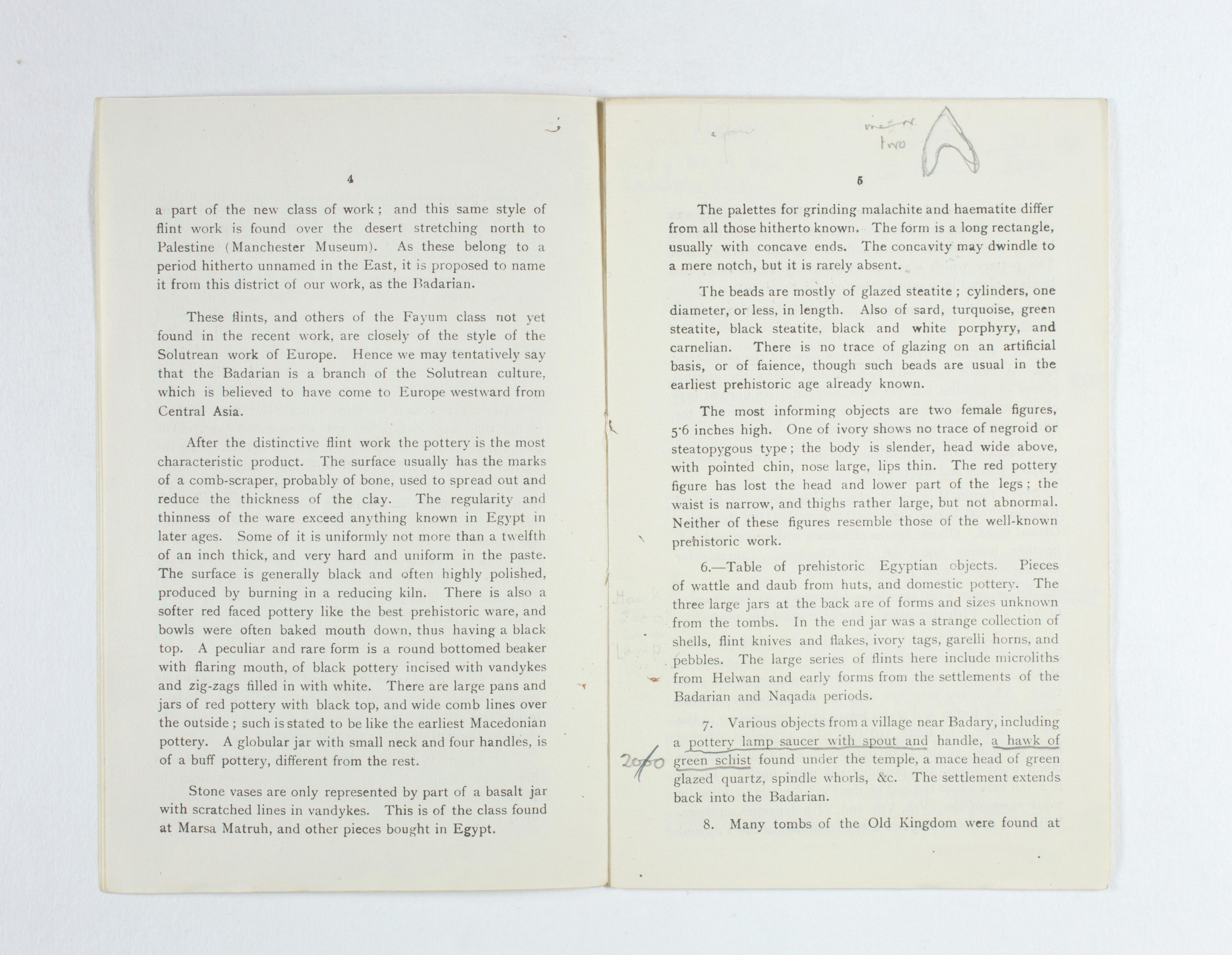 1923-24 Qau el-Kebir, Hemamieh Exhibition catalogue PMA/WFP1/D/27/34.4