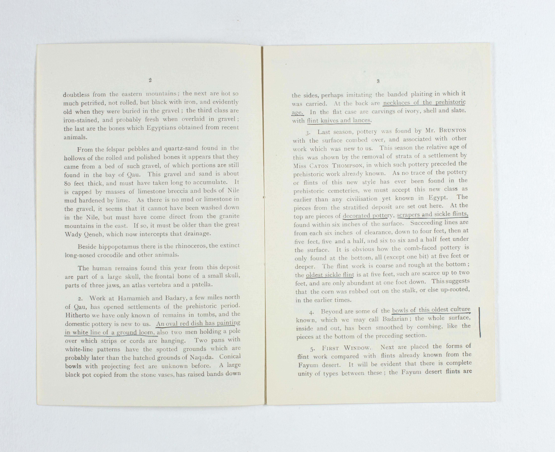 1923-24 Qau el-Kebir, Hemamieh Exhibition catalogue PMA/WFP1/D/27/35.5