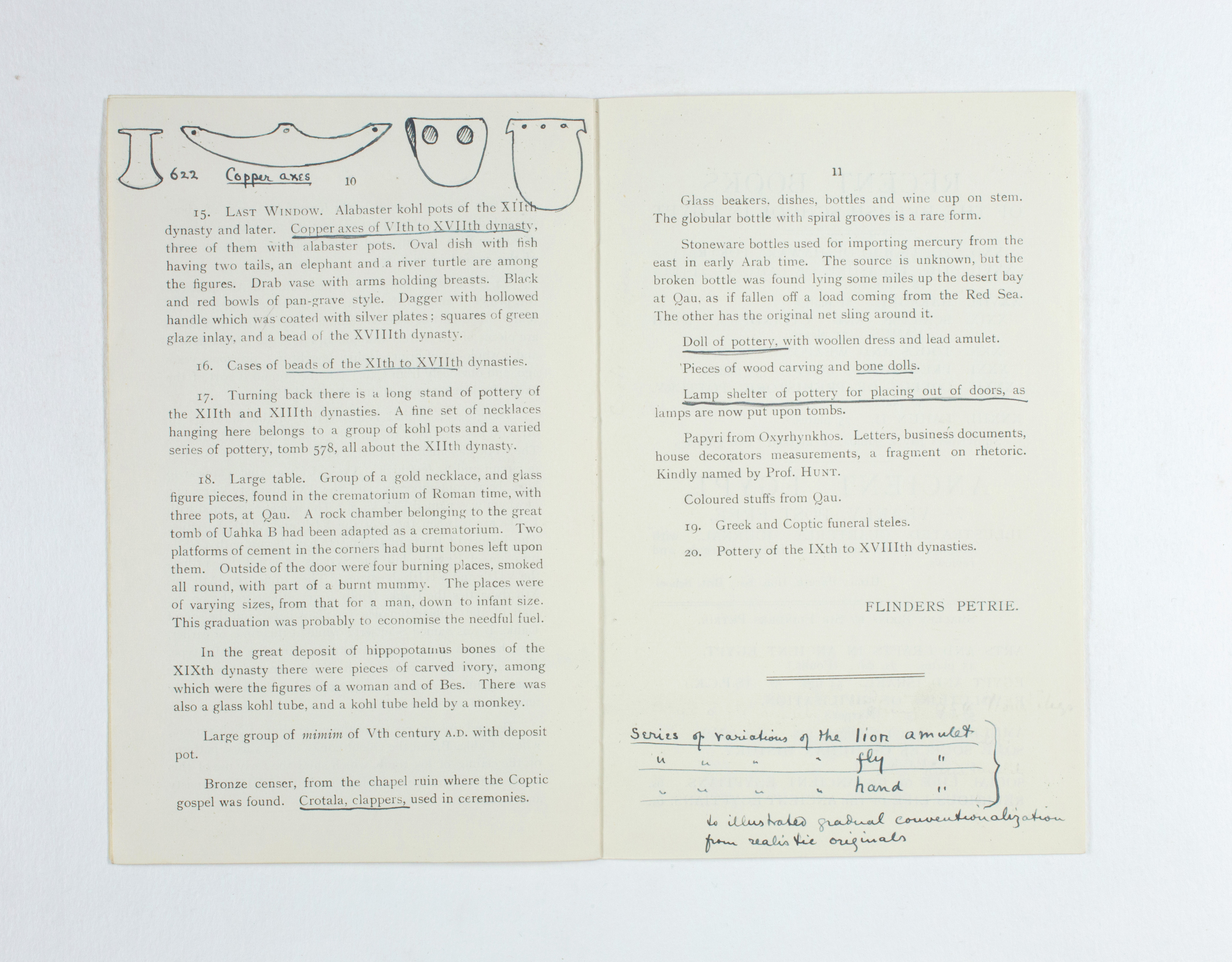 1923-24 Qau el-Kebir, Hemamieh Exhibition catalogue PMA/WFP1/D/27/35.9
