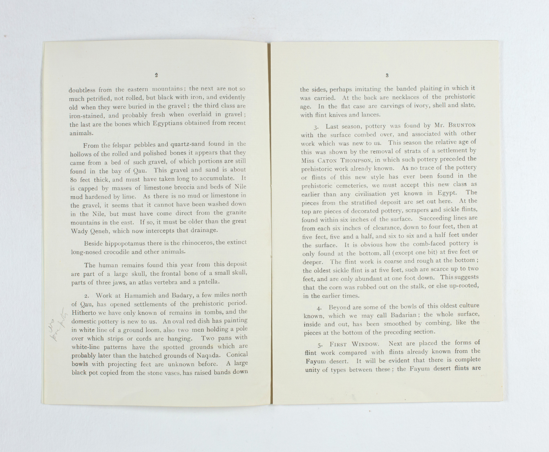 1923-24 Qau el-Kebir, Hemamieh Exhibition catalogue PMA/WFP1/D/27/36.3
