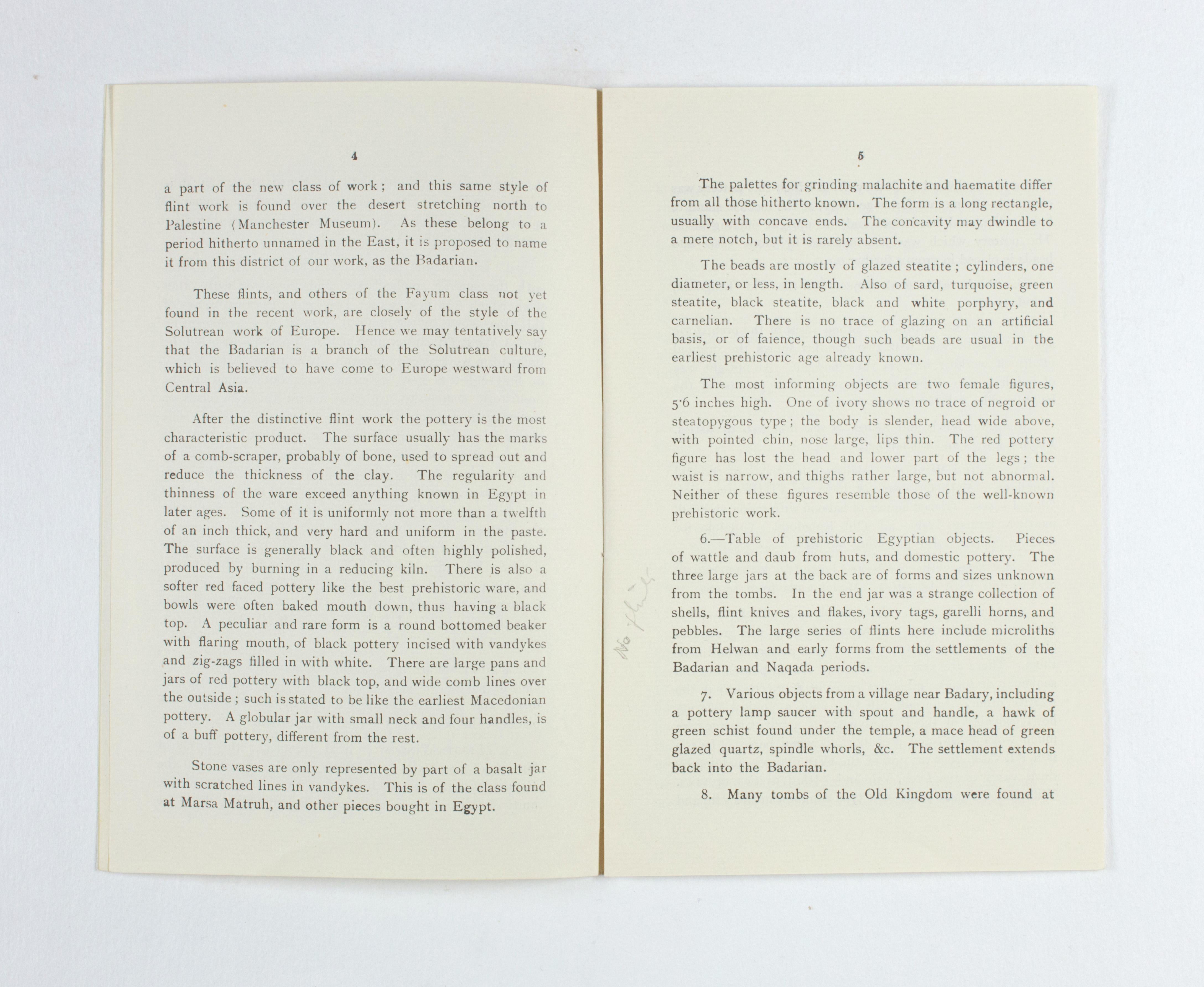1923-24 Qau el-Kebir, Hemamieh Exhibition catalogue PMA/WFP1/D/27/36.5