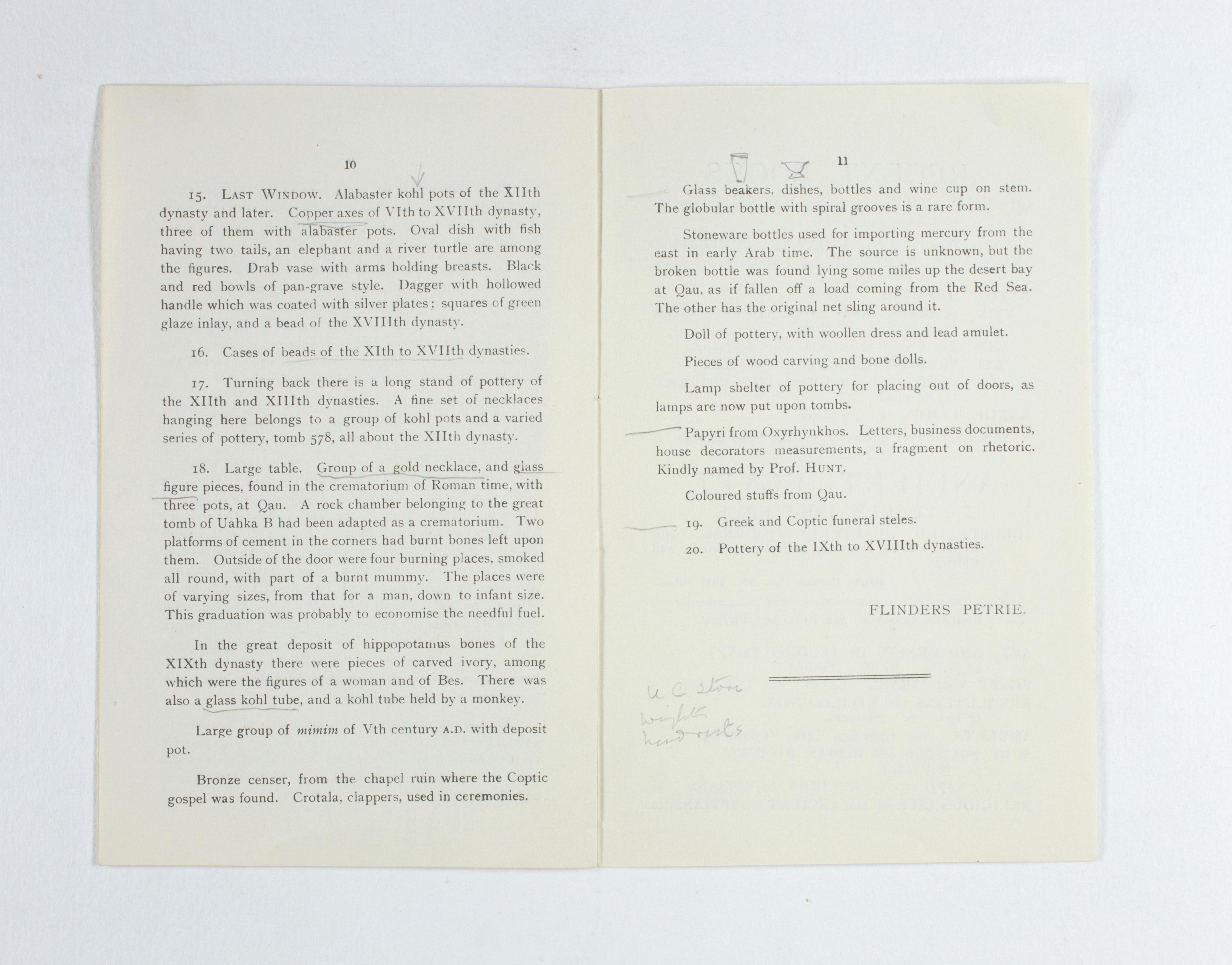 1923-24 Qau el-Kebir, Hemamieh Exhibition catalogue PMA/WFP1/D/27/36.8