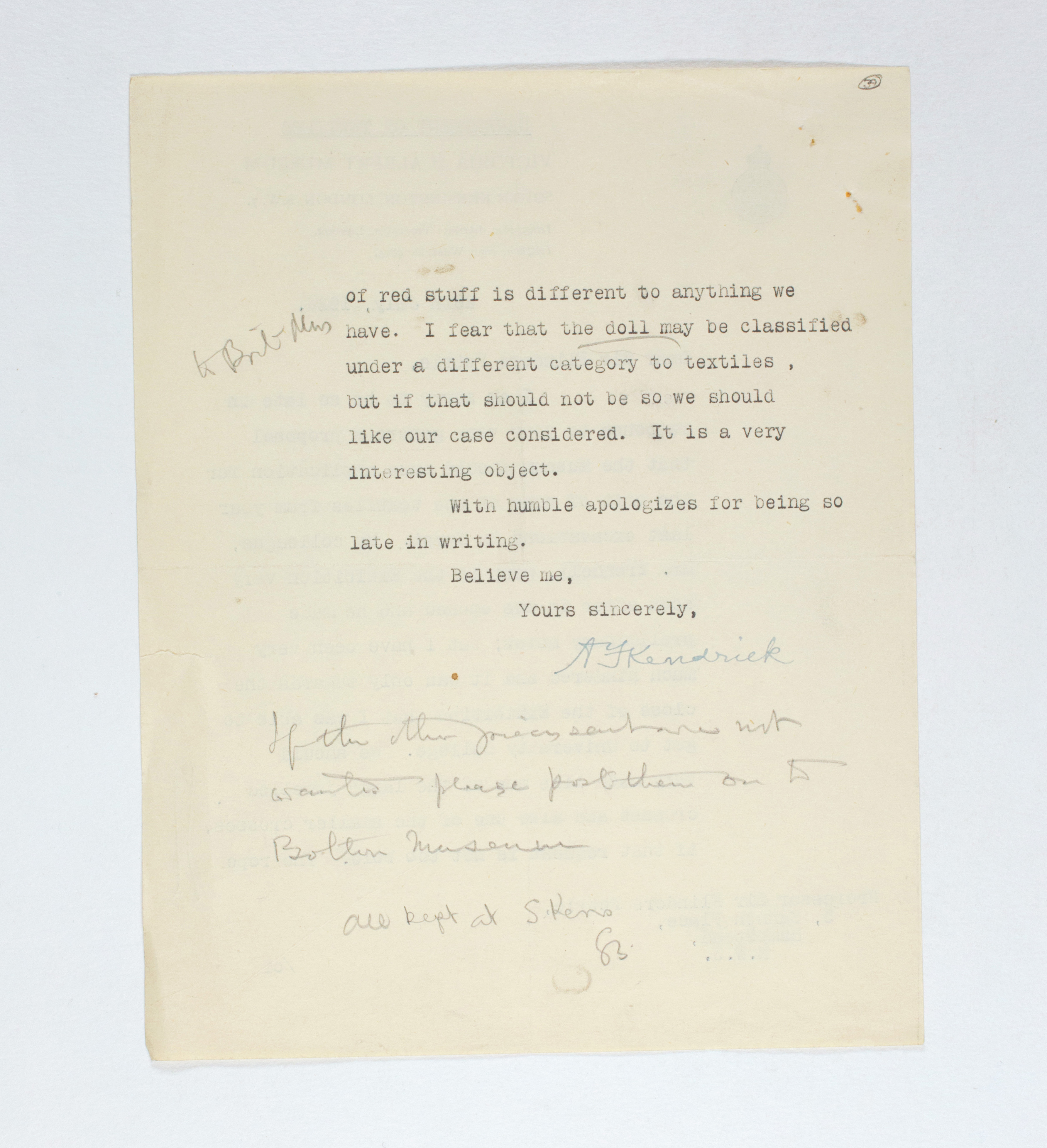 1923-24 Qau el-Kebir, Hemamieh Correspondence PMA/WFP1/D/27/39.2