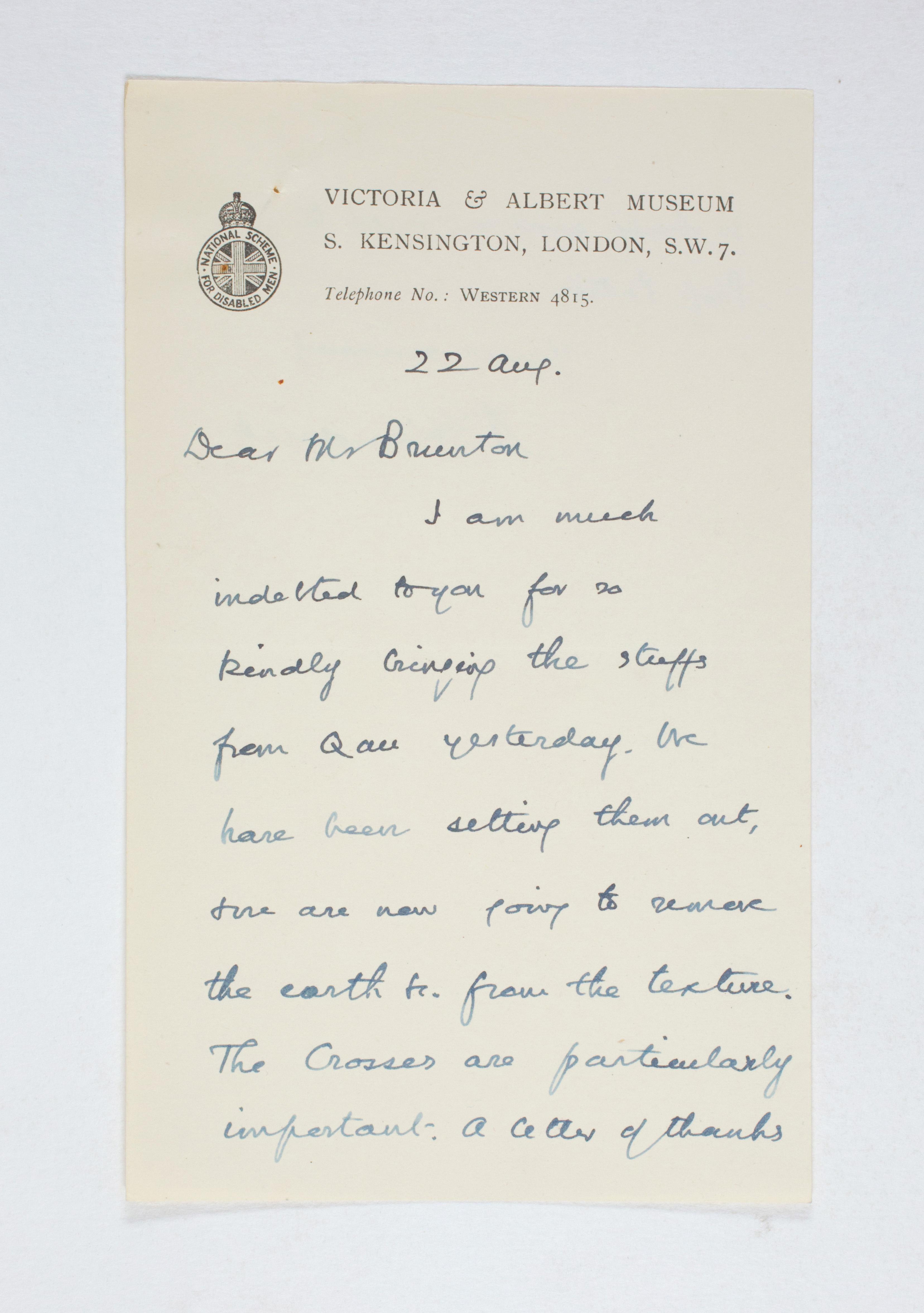 1923-24 Qau el-Kebir, Hemamieh Correspondence PMA/WFP1/D/27/40.1