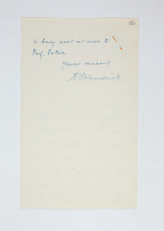 1923-24 Qau el-Kebir, Hemamieh Correspondence PMA/WFP1/D/27/40.2
