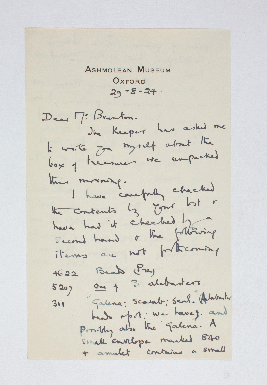 1923-24 Qau el-Kebir, Hemamieh Correspondence PMA/WFP1/D/27/45.1