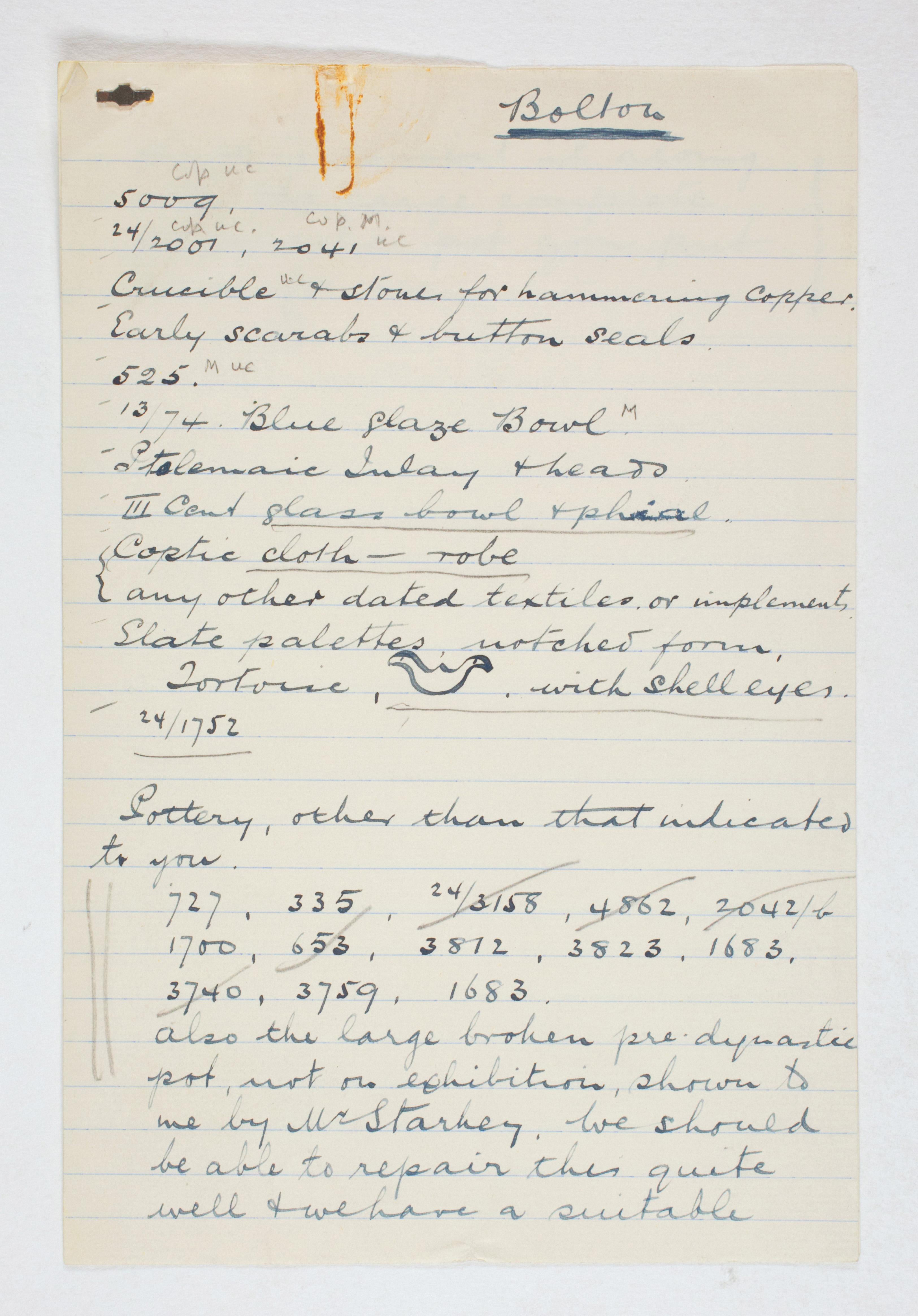 1923-24 Qau el-Kebir, Hemamieh Individual institution list PMA/WFP1/D/27/5.1