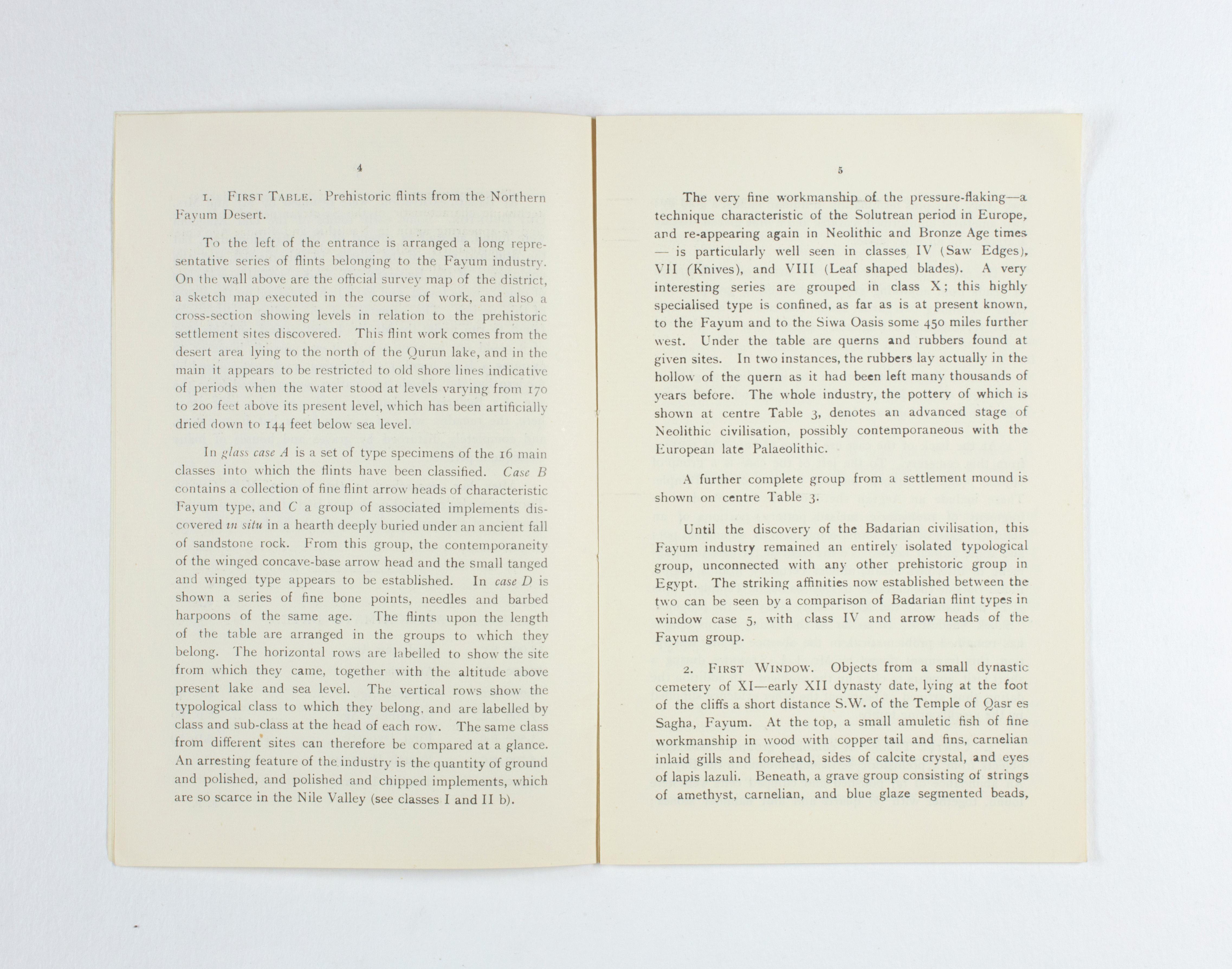 1924-25 Badari, Faiyum Exhibition catalogue PMA/WFP1/D/28/30.5