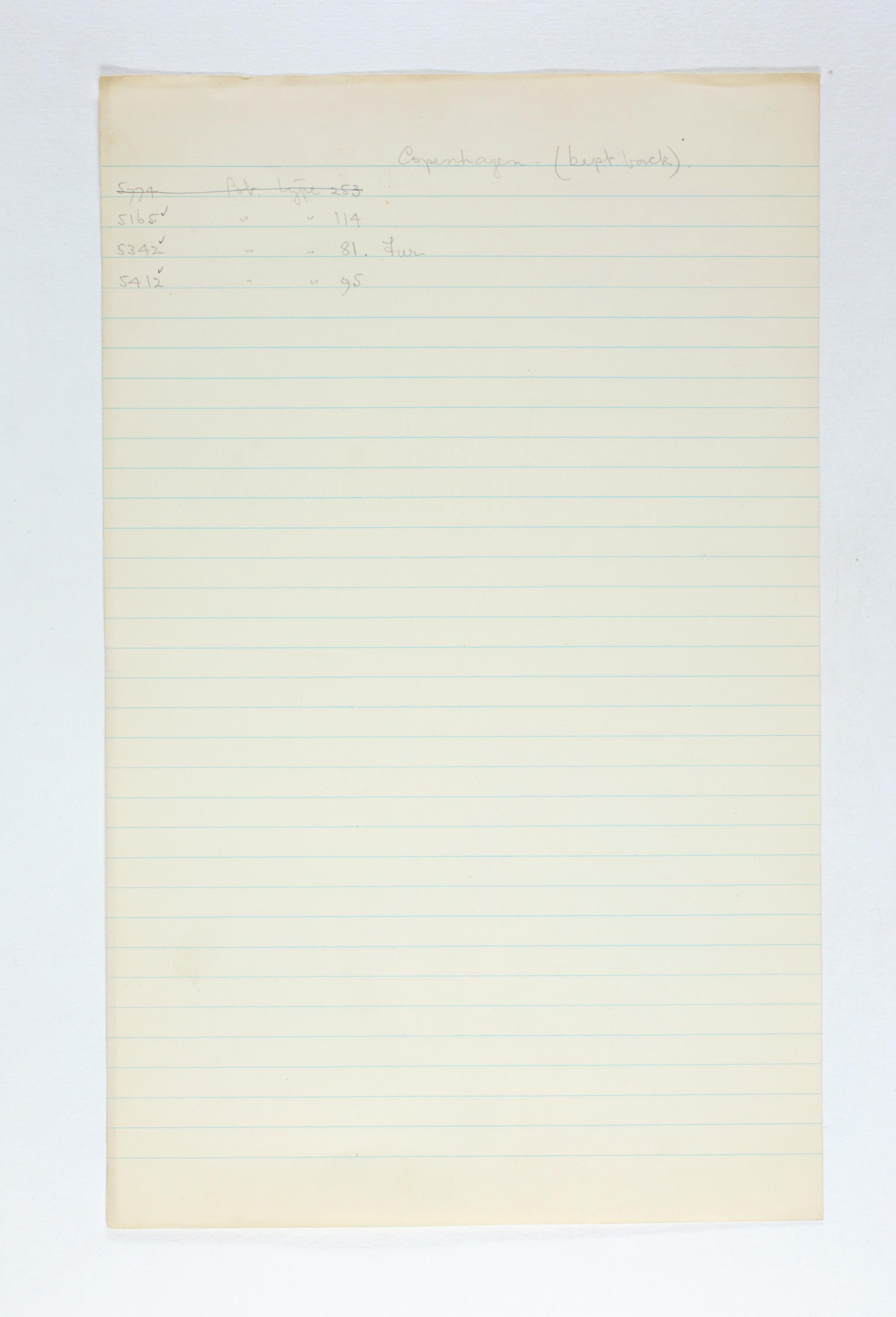 1924-25 Badari, Faiyum Individual institution list PMA/WFP1/D/28/7