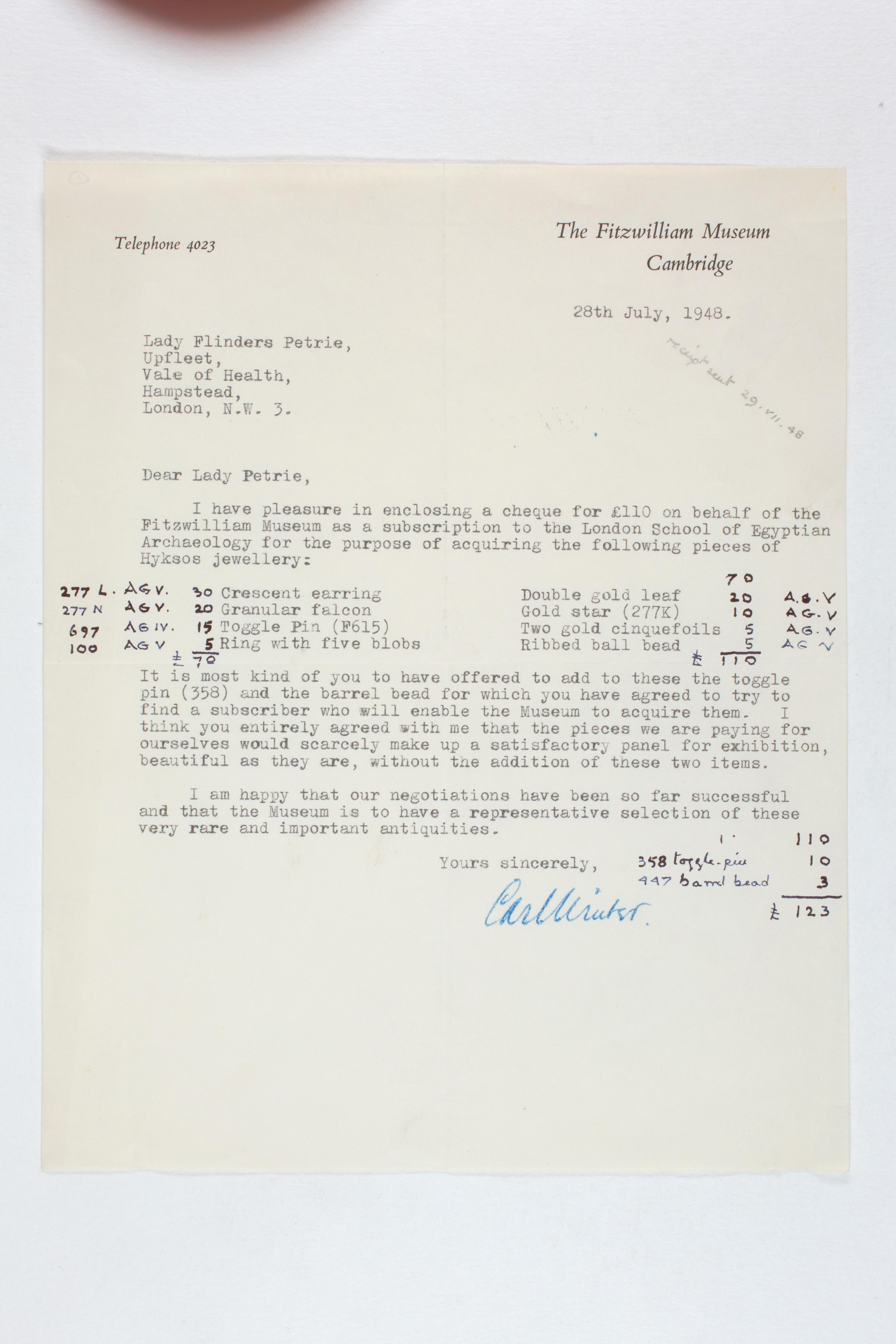 1931-50 Reserve correspondence Correspondence PMA/WFP1/D/32/1