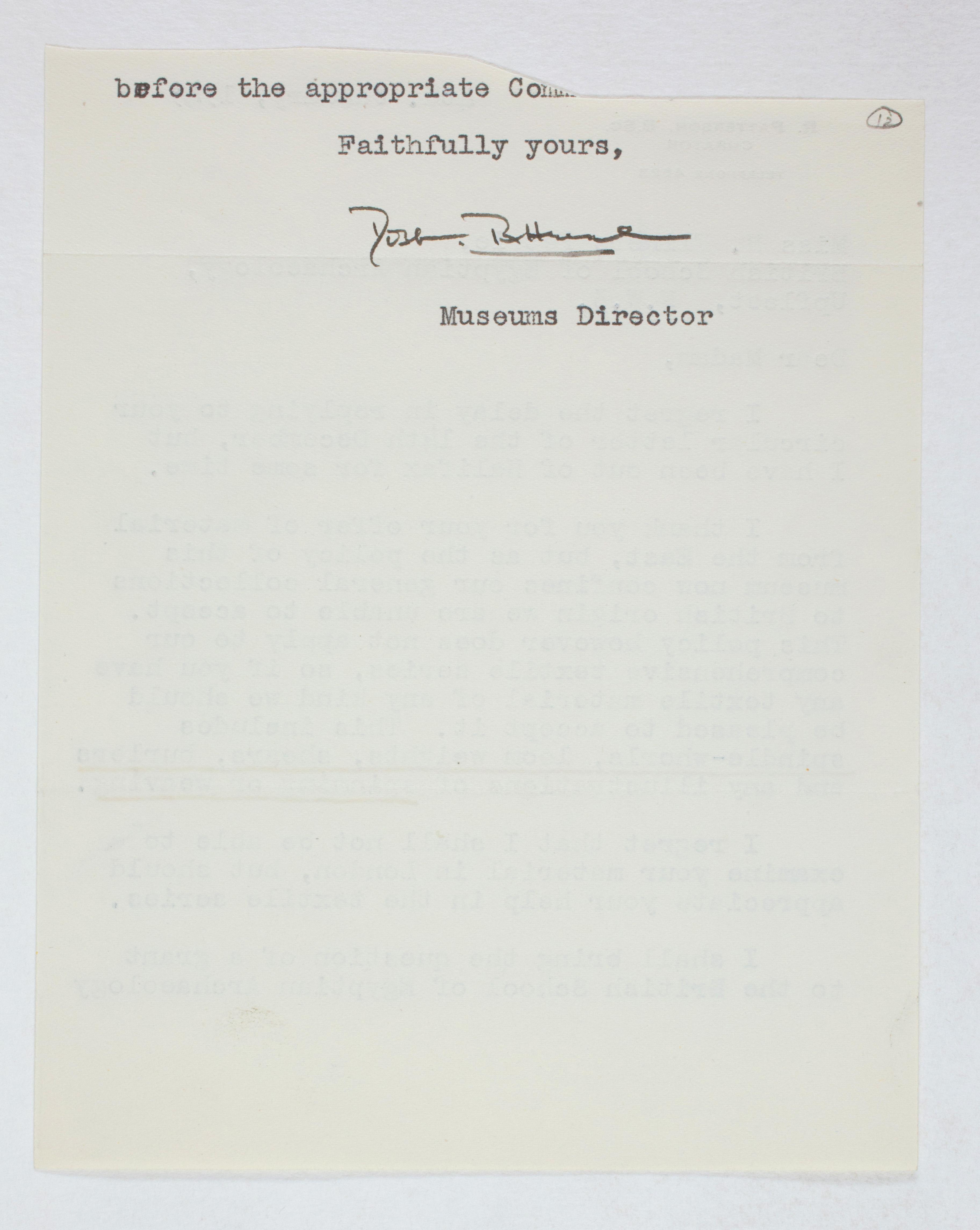 1931-50 Reserve correspondence Correspondence PMA/WFP1/D/32/12.2