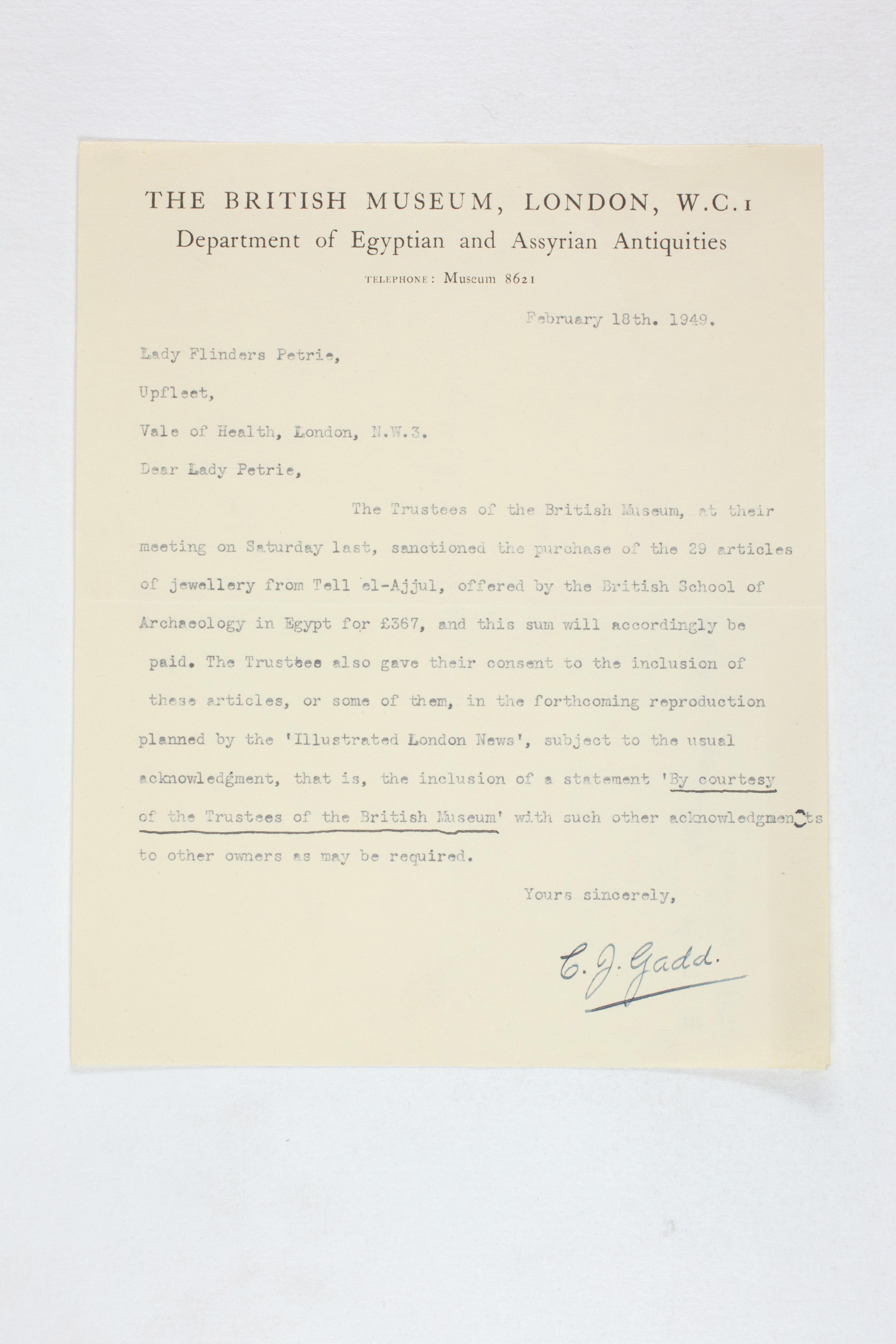 1931-50 Reserve correspondence Correspondence PMA/WFP1/D/32/20.1