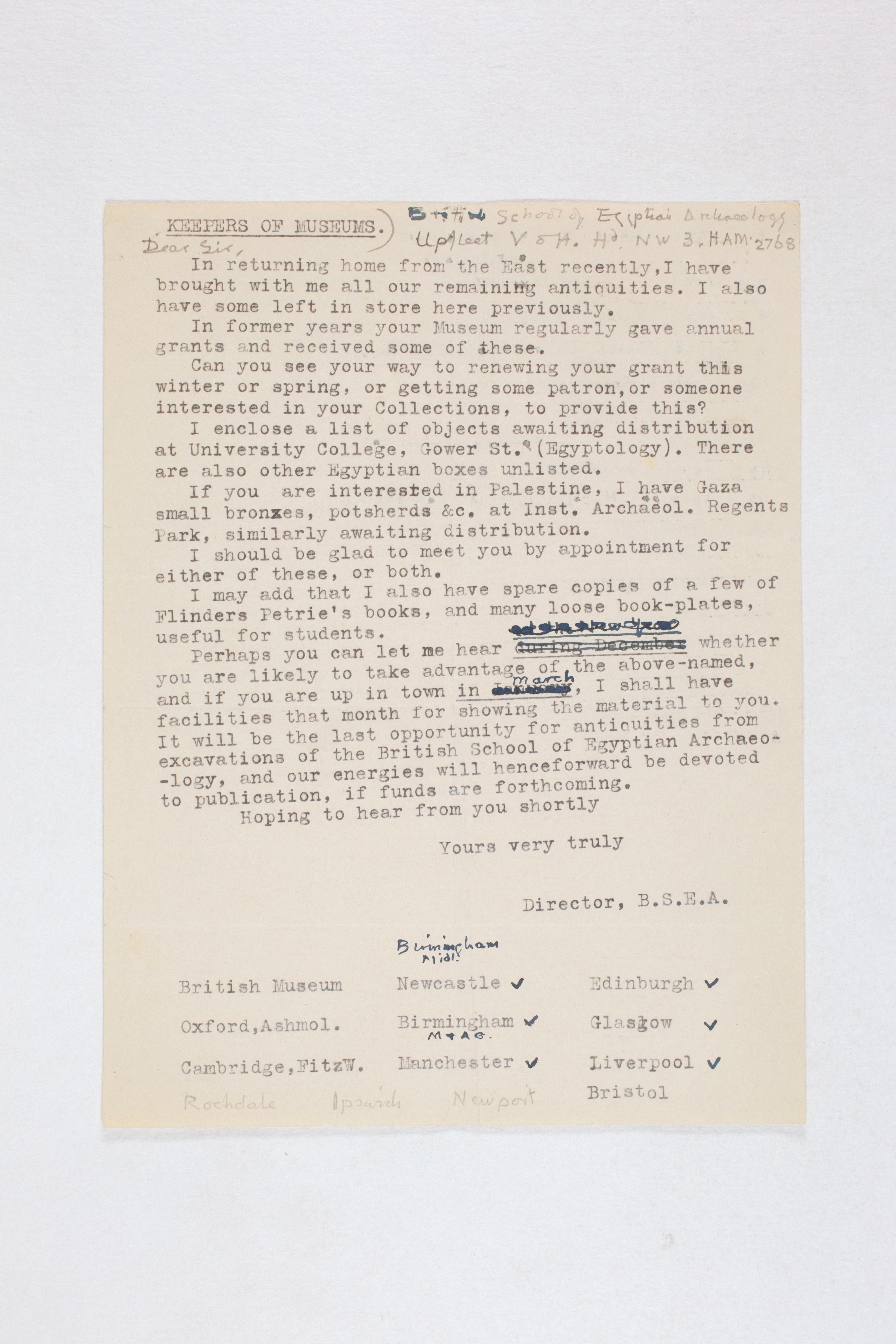 1931-50 Reserve correspondence Correspondence PMA/WFP1/D/32/22.1