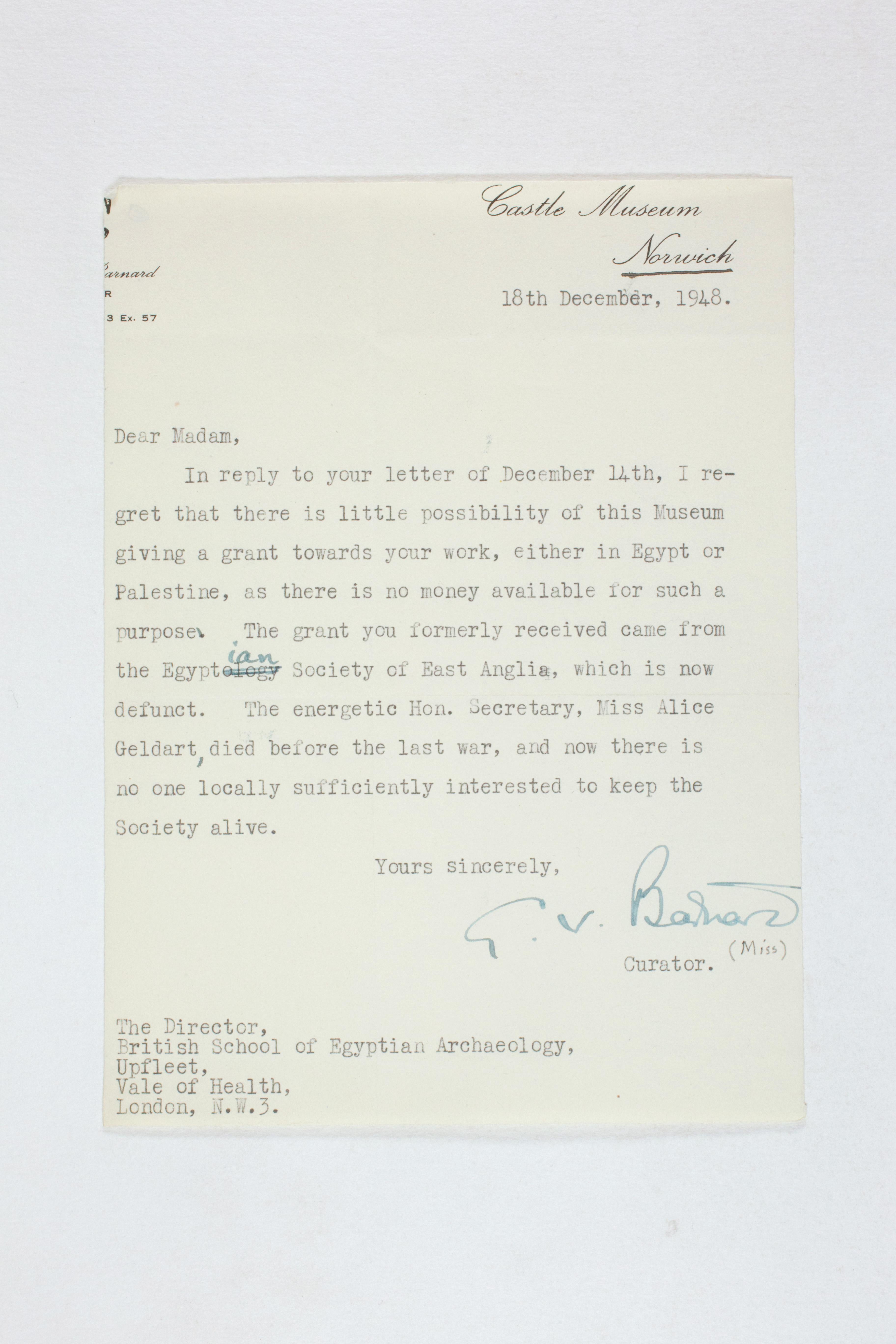 1931-50 Reserve correspondence Correspondence PMA/WFP1/D/32/6
