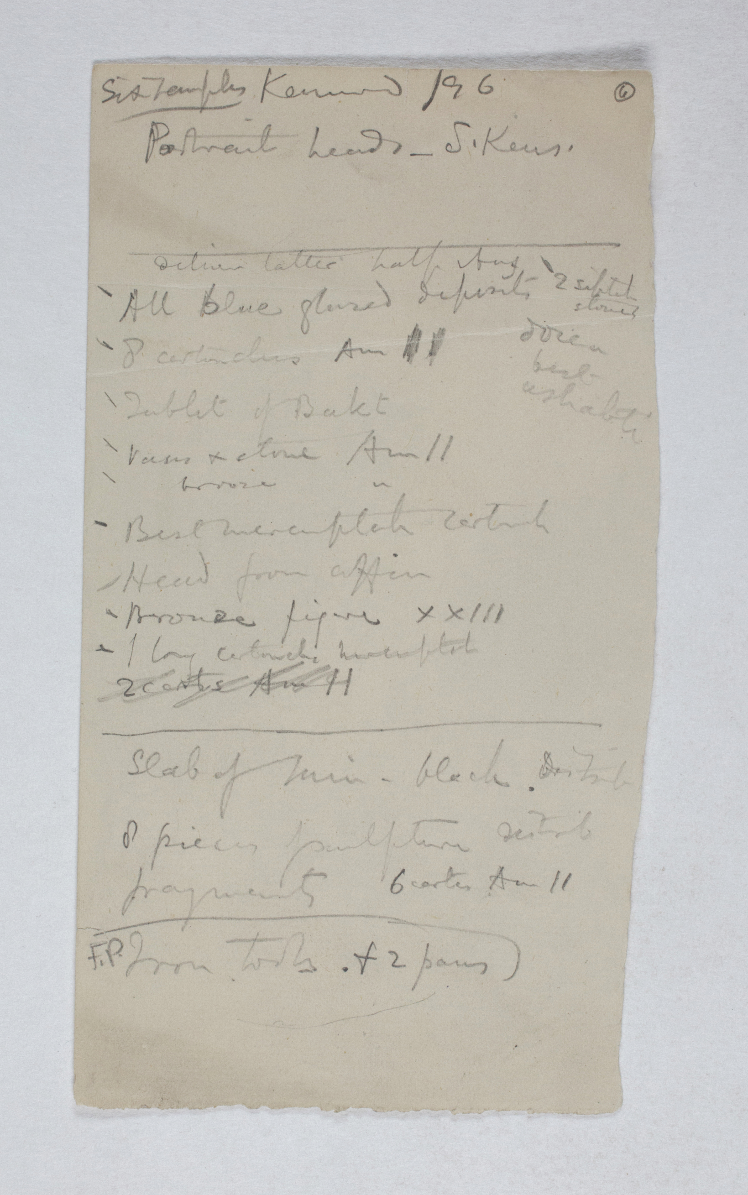West Thebes 1895-1896, Multiple Institution List, PMA/WFP1/D/4/6.1