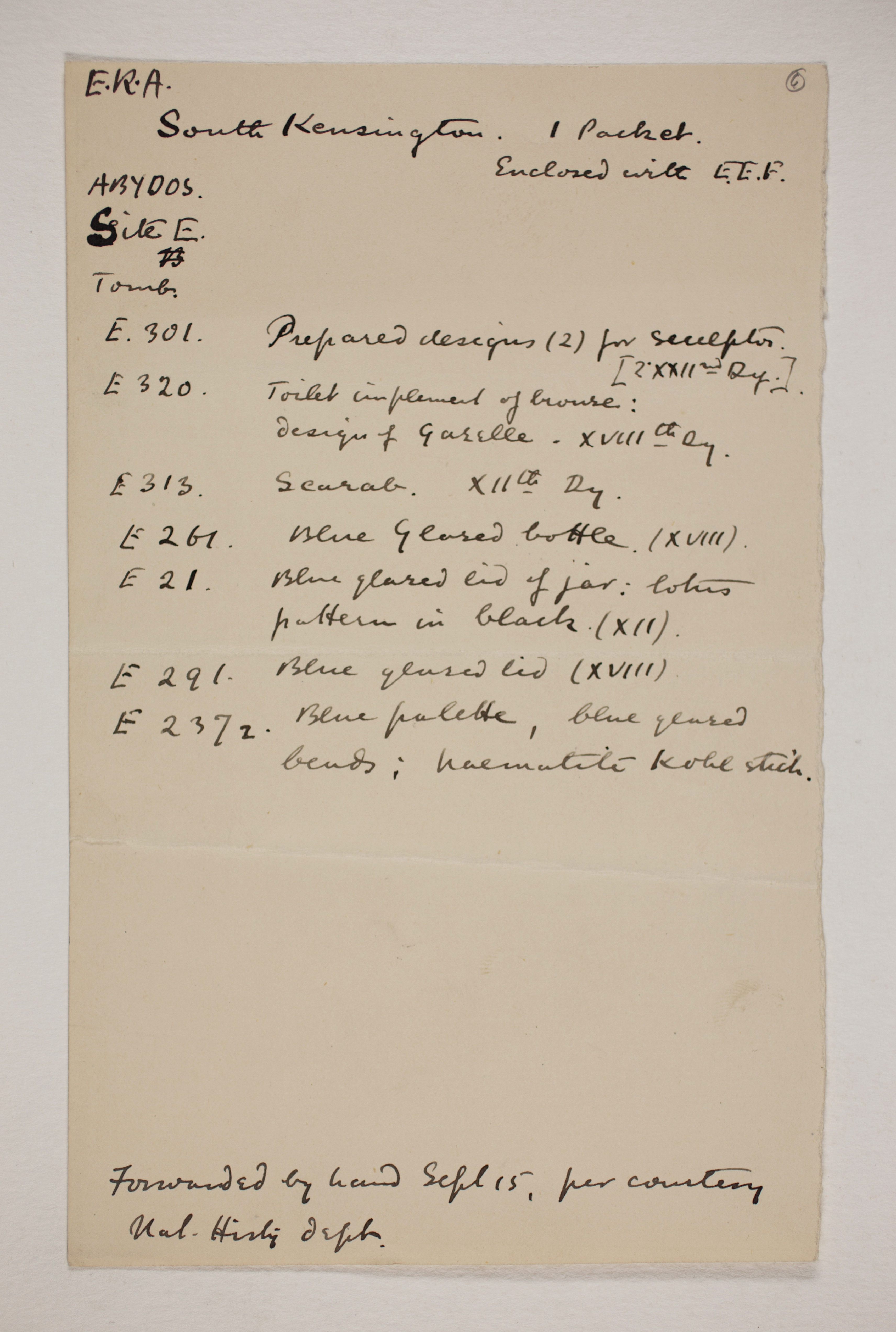 1899-1900 Abydos Individual institution list  PMA/WFP1/D/8/6