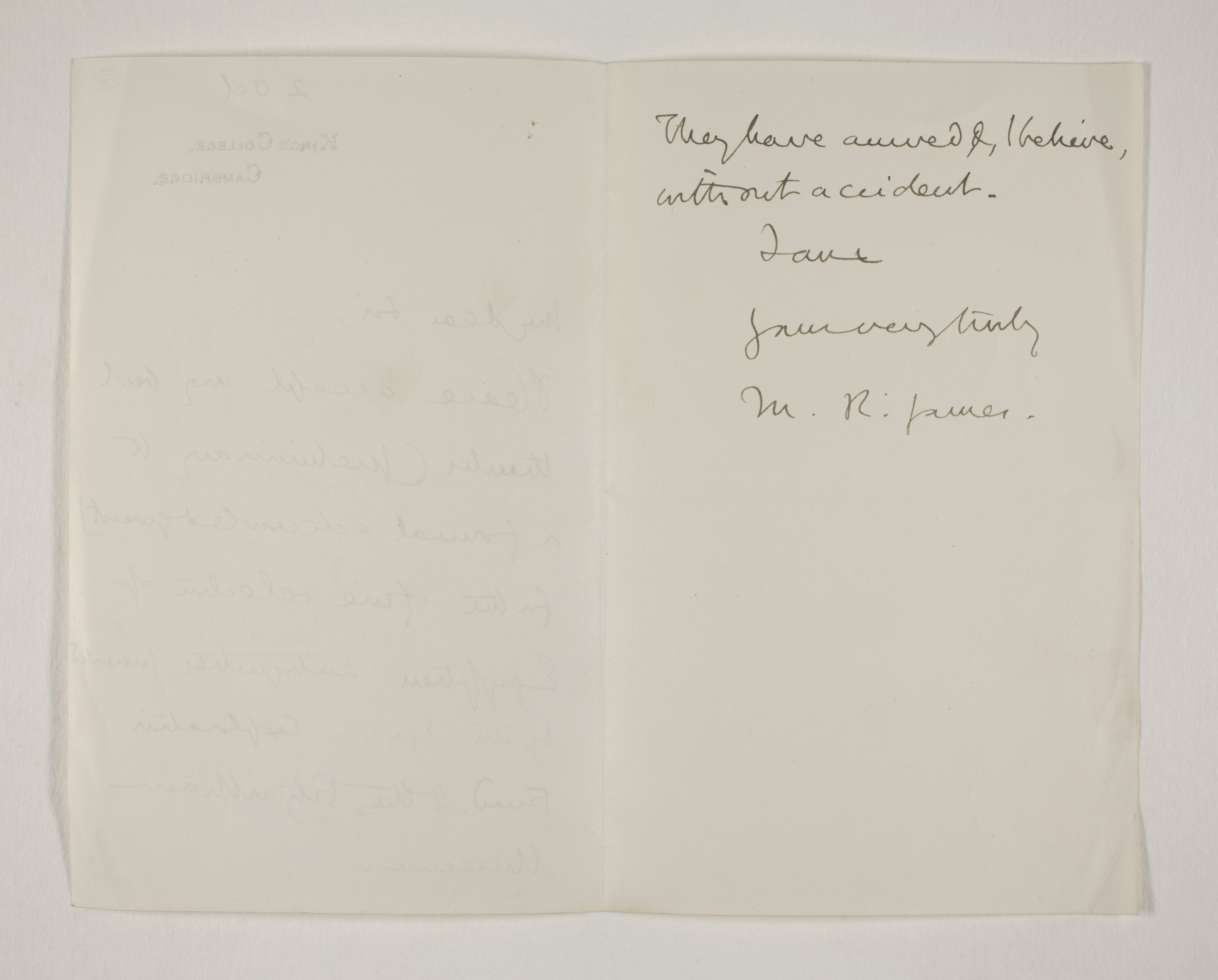 Abydos, Bet Khallaf, el-Mahasna 1900-1901, Correspondence, PMA/WFP1/D/9/15.2