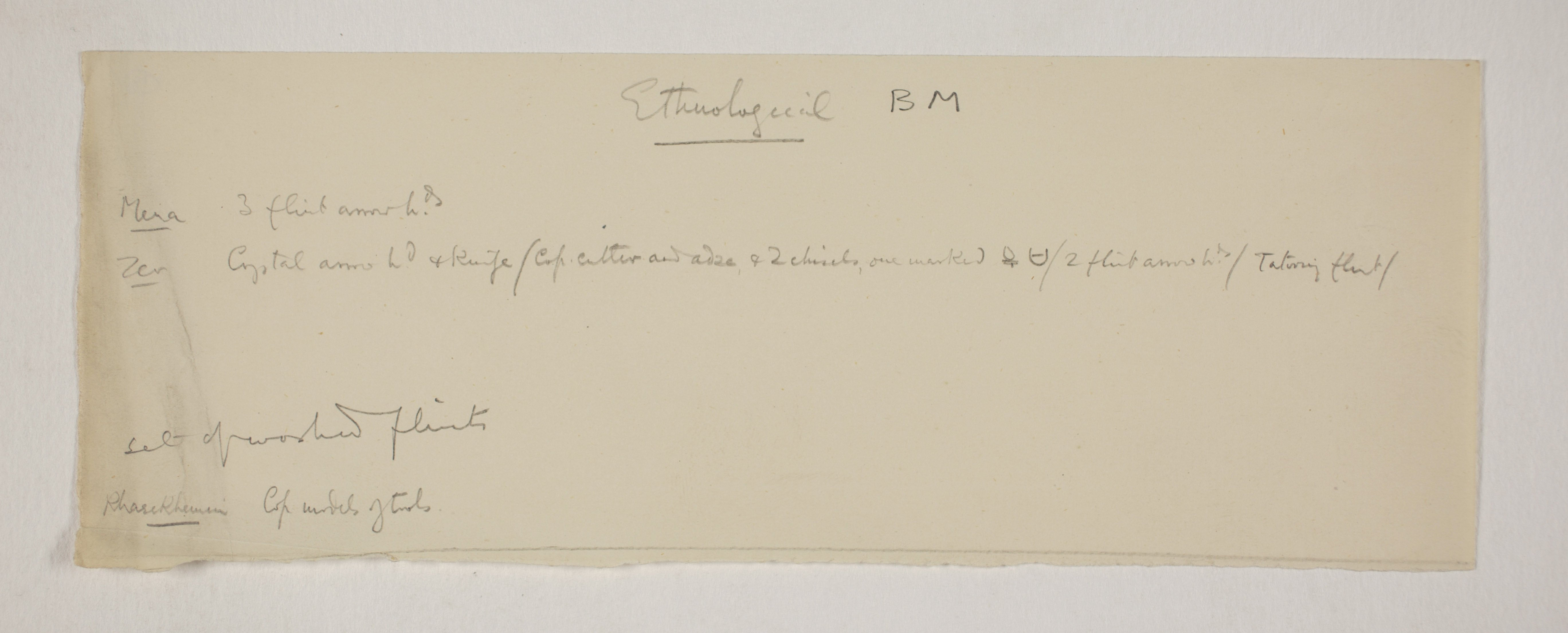 1900-01 Abydos, Bet Khallaf, el-Mahasna Individual institution list  PMA/WFP1/D/9/18