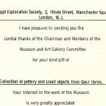 1922-76 Miscellaneous correspondence with museums DIST.41.02