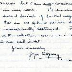1922-76 Miscellaneous correspondence with museums DIST.41.52b