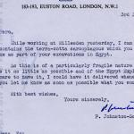 1922-71 Miscellaneous correspondence with museums DIST.42.70a