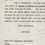 1926-39 correspondence with Antiquities Service DIST.50.37