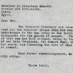 1926-39 correspondence with Antiquities Service DIST.50.52