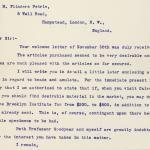 1904-05 Saqqara, Serabit el-Khadim, Sinai, Magharah, Sinai Correspondence PMA/WFP1/D/13/3