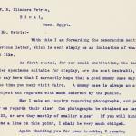 1904-05 Saqqara, Serabit el-Khadim, Sinai, Magharah, Sinai Correspondence PMA/WFP1/D/13/4