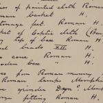 1910-11 Hawara, Gerzeh, Memphis, Mazghuneh Individual institution list  PMA/WFP1/D/19/15.1