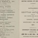 1910-11 Hawara, Gerzeh, Memphis, Mazghuneh Exhibition catalogue PMA/WFP1/D/19/33.2