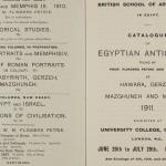 1910-11 Hawara, Gerzeh, Memphis, Mazghuneh Exhibition catalogue PMA/WFP1/D/19/34.2