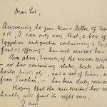 1912-13 Tarkhan, el-Riqqa, Memphis Correspondence PMA/WFP1/D/21/21