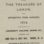 1913-14 Lahun, Haraga Exhibition catalogue PMA/WFP1/D/22/49.1