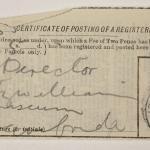 1913-14 Lahun, Haraga Mailing label PMA/WFP1/D/22/50.14