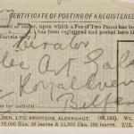 1913-14 Lahun, Haraga Mailing label PMA/WFP1/D/22/50.16