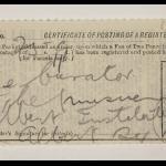 1913-14 Lahun, Haraga Mailing label PMA/WFP1/D/22/50.22