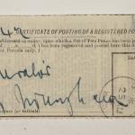 1913-14 Lahun, Haraga Mailing label PMA/WFP1/D/22/50.24