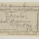 1913-14 Lahun, Haraga Mailing label PMA/WFP1/D/22/50.32