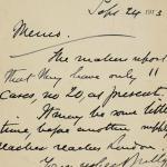 1913-14 Lahun, Haraga Correspondence PMA/WFP1/D/22/7.2
