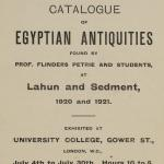 1919-21 Sedment, Lahun Exhibition catalogue PMA/WFP1/D/24/47.1