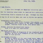 1922-23 Qau el-Kebir Correspondence PMA/WFP1/D/26/34