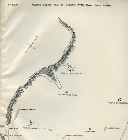 Sketch map, Ayrton et al. 1904: plate LXI.