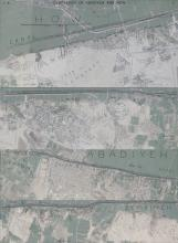 Excavator's map of the cemeteries of Diospolis Parva superimposed on a Googlemap image of the modern-day landscape.