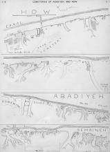 Map of the cemeteries of Diospolis Parva as published in Petrie's (1901) excavation report.