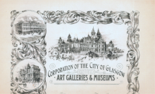 Letter-head of Glasgow Art Galleries and Museums, circa. 1908.