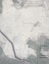 Excavator's sketch map of the archaeological site at Hawara, superimposed on a modern day Google map image. Created by Kristian Brink, 2015.